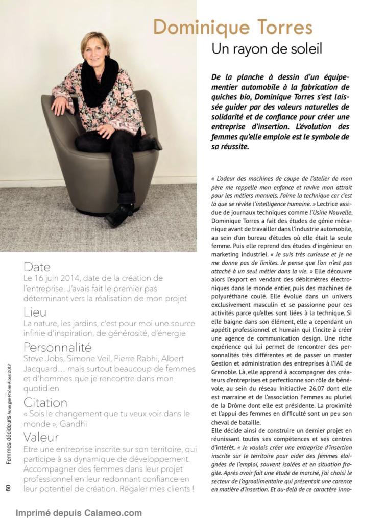 Article sur Dominique Torres