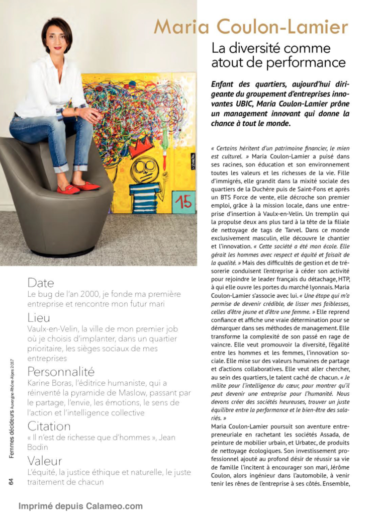 Article sur Marie Coulon Lamier